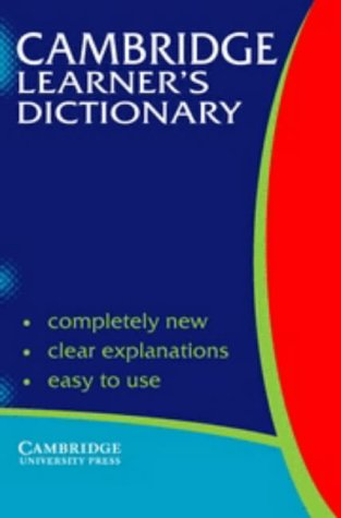 9780521663663: Cambridge learner's dictionary. Intermediate to upper intermediate