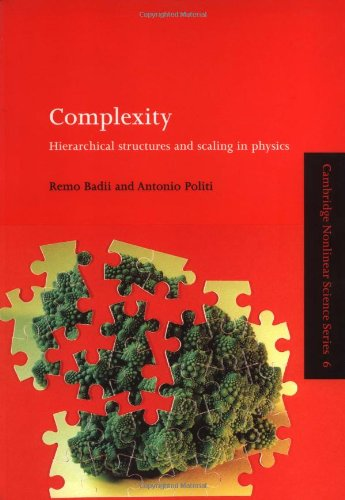9780521663854: Complexity: Hierarchical Structures and Scaling in Physics (Cambridge Nonlinear Science Series)
