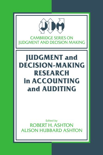 9780521664387: Judgment and Decision-Making Research in Accounting and Auditing (Cambridge Series on Judgment and Decision Making)