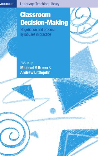 9780521666145: Classroom Decision Making Paperback: Negotiation and Process Syllabuses in Practice (Cambridge Language Teaching Library)