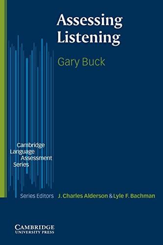 9780521666619: Assessing Listening (The Cambridge Language Assessment Series)