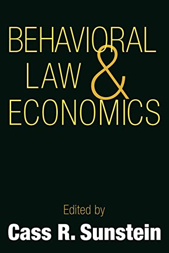 9780521667432: Behavioral Law and Economics (Cambridge Series on Judgment and Decision Making)