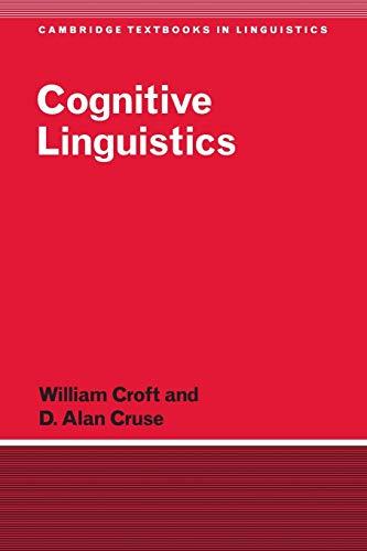 9780521667708: Cognitive Linguistics Paperback (Cambridge Textbooks in Linguistics)