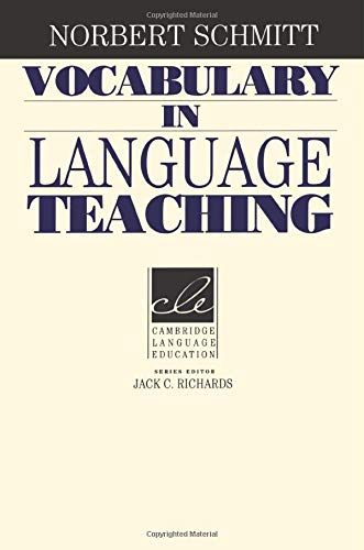 9780521669382: Vocabulary in Language Teaching (Cambridge Language Education)