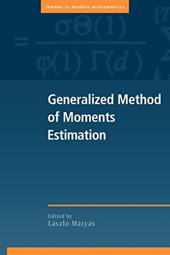 9780521669672: Generalized Method Moments Estimatn (Themes in Modern Econometrics)