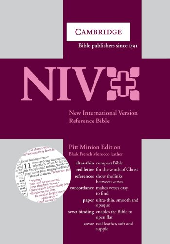 9780521670302: New International Version Bible Pitt Minion Reference Edition Black French Morocco Leather NI183RC