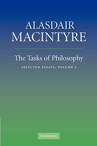 9780521670616: The Tasks of Philosophy: Volume 1: Selected Essays