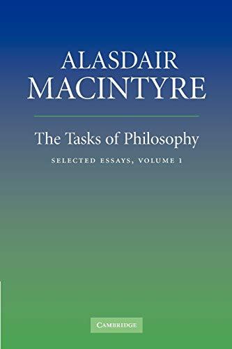 9780521670616: The Tasks of Philosophy: Volume 1 Paperback: Selected Essays: v. 1