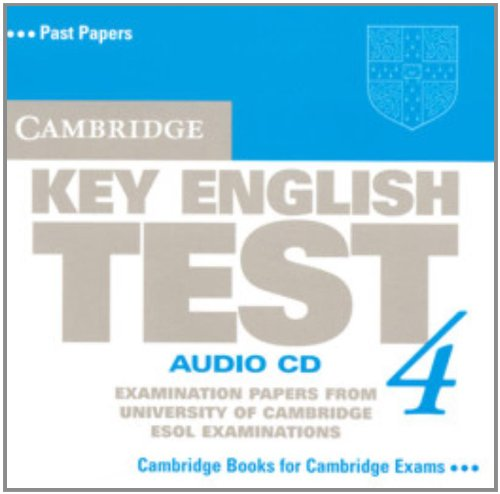 9780521670845: Cambridge Key English Test 4 Audio CD: Level 4 (KET Practice Tests)