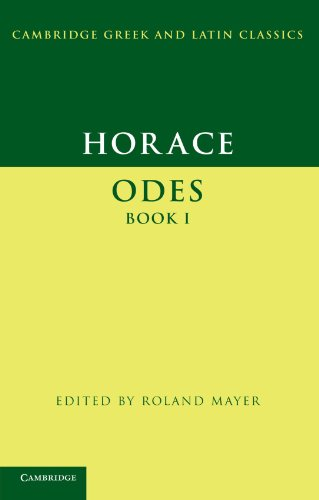 9780521671019: Horace: Odes Book I (Cambridge Greek and Latin Classics)