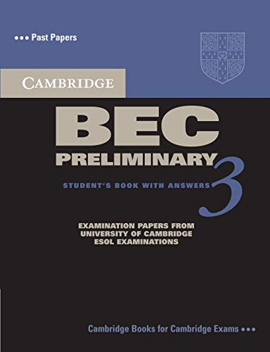 9780521671958: Cambridge BEC Preliminary 3 Student's Book with Answers (BEC Practice Tests)