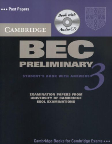 9780521671965: Cambridge BEC Preliminary 3 Self Study Pack