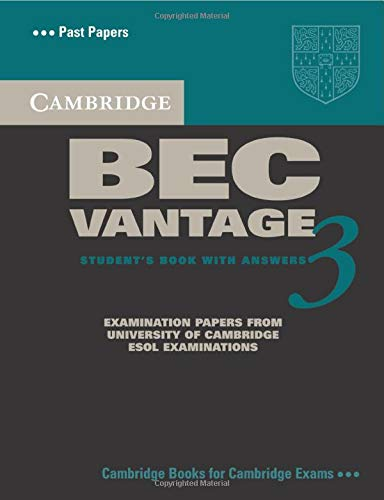 9780521671996: Cambridge BEC Vantage 3 Student's Book with Answers