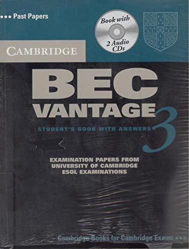 9780521672009: Cambridge BEC Vantage 3 Self Study Pack