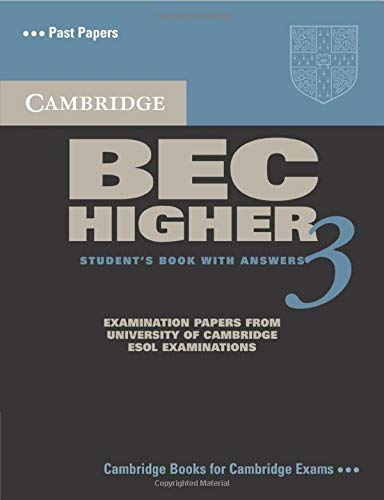9780521672030: Cambridge BEC Higher 3 Student's Book with Answers