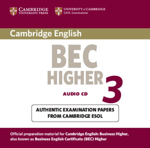 9780521672054: Cambridge BEC Higher 3 Audio CD (BEC Practice Tests)