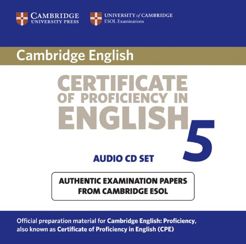 9780521672788: Cambridge Certificate of Proficiency in English 5 Audio CD Set (2 CDs): Examination Papers from University of Cambridge ESOL Examinations: Paper 5 (CPE Practice Tests)