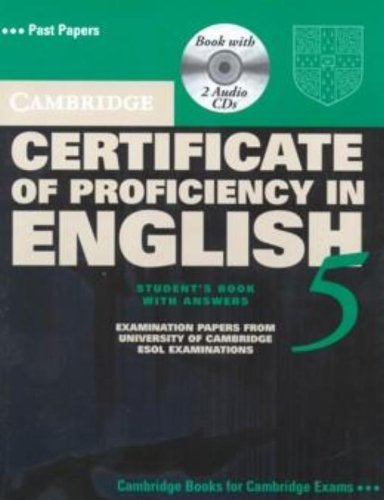 9780521672795: Cambridge Certificate of Proficiency in English 5 Self Study Pack: Examination Papers from University of Cambridge ESOL Examinations (CPE Practice Tests)