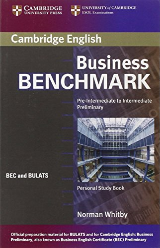 9780521672863: Business Benchmark Pre-Intermediate to Intermediate Personal Study Book BEC and BULATS Edition