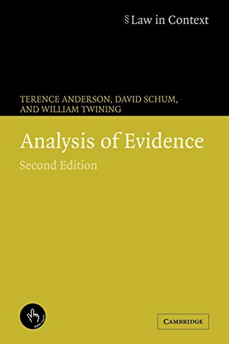 9780521673167: Analysis of Evidence (Law in Context)