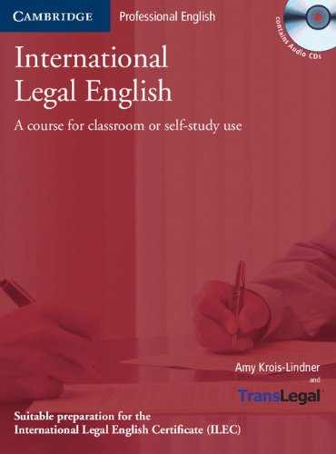 9780521675178: International Legal English: A Course for Classroom or Self-study Use (Face2face S)