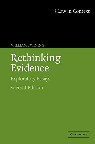 9780521675376: Rethinking Evidence: Exploratory Essays (Law in Context)