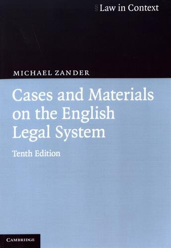 9780521675406: Cases and Materials on the English Legal System (Law in Context)