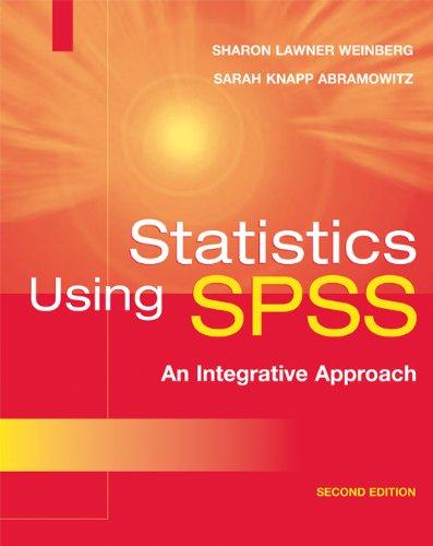 9780521676373: Statistics Using SPSS: An Integrative Approach