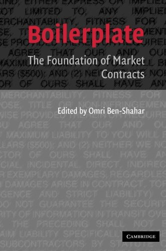 9780521676380: Boilerplate: The Foundation of Market Contracts