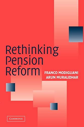 9780521676533: Rethinking Pension Reform