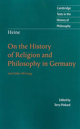 9780521678506: Heine: 'On the History of Religion and Philosophy in Germany' (Cambridge Texts in the History of Philosophy)