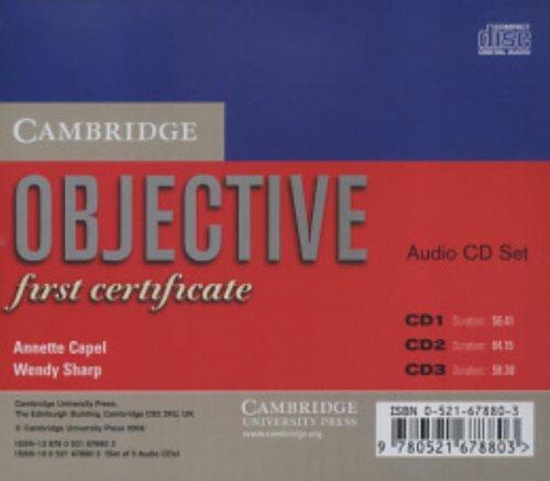 9780521678803: Objective: First Certificate Class Audio CD Set (3 CDs)