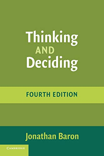 9780521680431: Thinking and Deciding, 4th Edition