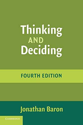 9780521680431: Thinking and Deciding