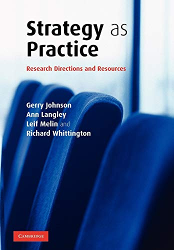 9780521681568: Strategy as Practice: Research Directions and Resources