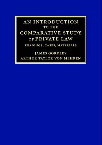 9780521681858: An Introduction to the Comparative Study of Private Law: Readings, Cases, Materials