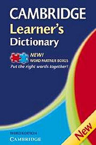 9780521681964: Cambridge learner's dictionary. Intermediate to upper intermediate