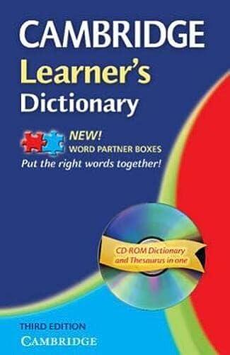 9780521682022: Cambridge learner's dictionary. Intermediate to upper intermediate. Con CD-ROM