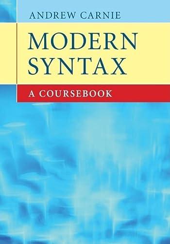 9780521682046: Modern Syntax: A Coursebook