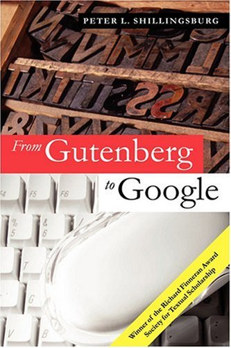 9780521683470: From Gutenberg to Google: Electronic Representations of Literary Texts