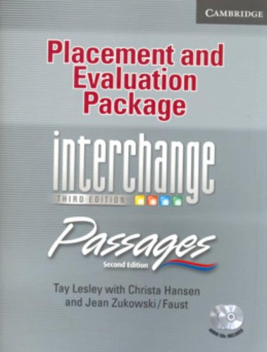 9780521683975: Placement and Evaluation Package Interchange Third Edition/Passages Second Edition with Audio CDs (2): An upper-level multi-skills course