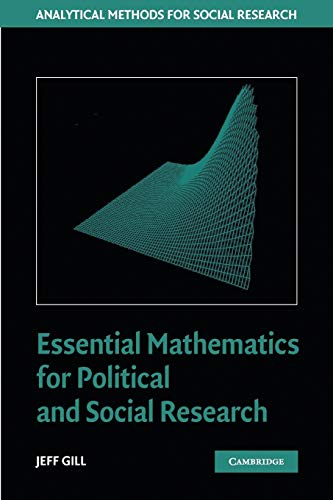 9780521684033: Essential Mathematics for Political and Social Research Paperback (Analytical Methods for Social Research)