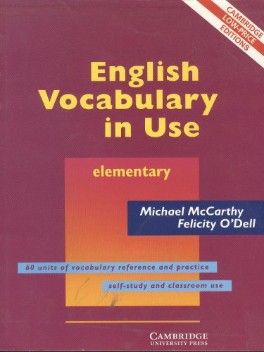9780521684316: English Vocabulary In Use Elementary With Answers