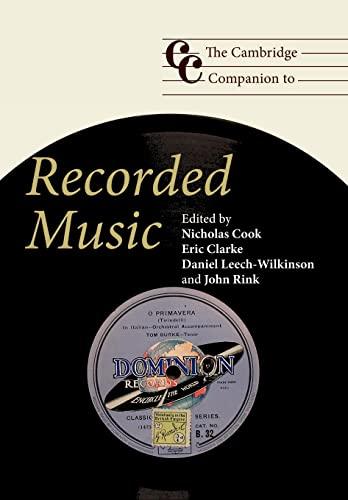9780521684613: The Cambridge Companion to Recorded Music (Cambridge Companions to Music)