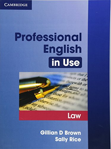 9780521685429: Professional English in Use Law