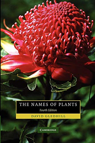 9780521685535: The Names of Plants