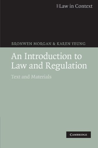 9780521685658: An Introduction to Law and Regulation: Text and Materials (Law in Context)