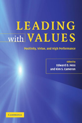 9780521686037: Leading with Values Paperback: Positivity, Virtue and High Performance