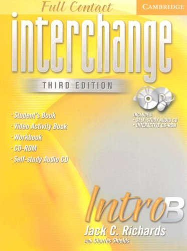 9780521686662: Interchange Third Edition Full Contact Intro B
