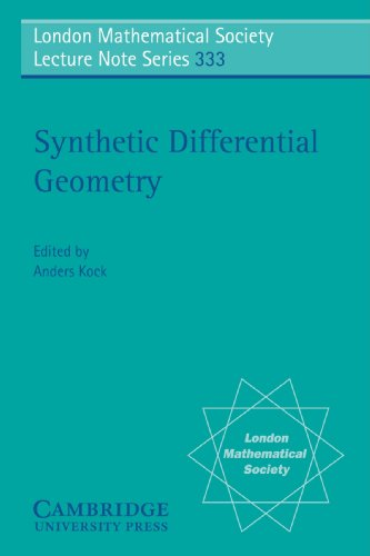 9780521687386: Synthetic Differential Geometry (London Mathematical Society Lecture Note Series)